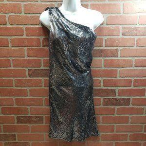 ABS By Allen Schwartz NWT Silver Sequin Dress